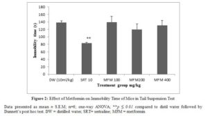 Picture of Figure 2: Effect of Metformin on Immobility Time of Mice in Tail Suspension Test